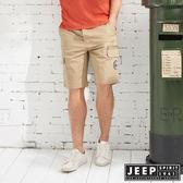 【JEEP】潮流簡約口袋短褲-卡其