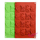 wei-ni 矽膠模 愛心鎖孔 love you 字母 造型 12連 矽膠模具 巧克力模型 冰塊模型 餅乾模具 情人節