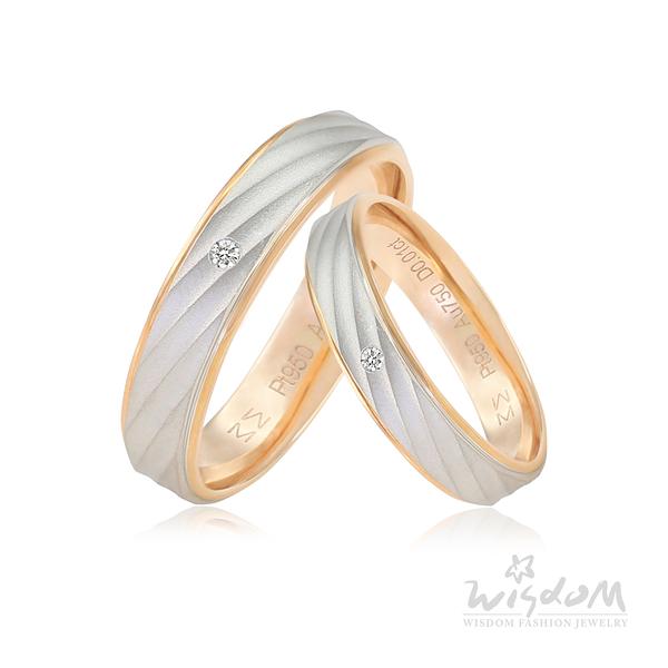 威世登 幸福見證玫瑰K鉑金鑽石對戒-女戒 婚戒推薦 情人節禮物 DA03809G-AIBXX