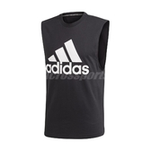 adidas 背心 Must Have BOS Tank 男款 黑 白 大Logo 三條線 運動休閒款 【PUMP306】 DT9936