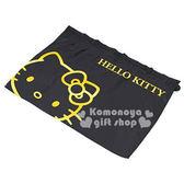〔小禮堂〕Hello Kitty 汽車用側窗窗簾《.黑.大臉.》附2吸盤.輕鬆裝飾愛車 4905339-86600