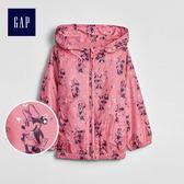 Gap x Disney迪士尼系列 女嬰幼童米妮印花長袖拉鏈外套 497026-米妮老鼠圖案
