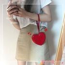 錢包韓系~ins少女心滿滿可愛愛心零錢包PU卡包硬幣包女小 愛丫