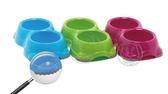 【培菓平價寵物網】比利時MP《寵物餐具》碟煞雙槽食皿 (M)