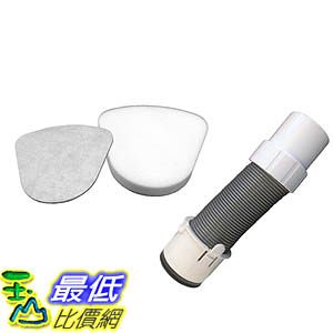 [106美國直購] Crucial Vaccum Filter Bundle with Foam, Felt Filters and Hose
