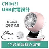 CHIMEI 奇美 DF-06APUD 6吋DC渦流擺頭USB循環扇-糖果粉