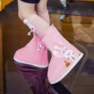 雨鞋 兒童雨鞋套女中大童小學生女童雨鞋防滑防水公主大童可愛男童雨靴【快速出貨八折特惠】