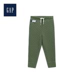 Gap男幼童舒適絎縫鬆緊腰長褲496086-蒙特雷柏綠色