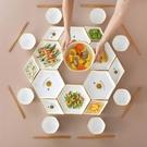 團圓拼盤餐具盤子套裝家用創意碗碟個性陶瓷碗盤組合餐盤北歐碟子 【618特惠】
