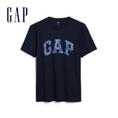 Gap男裝 Logo創意圓領短袖T恤 579728-經典海軍藍