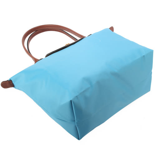 LONGCHAMP經典長提把小型尼龍摺疊水餃包(蔚藍色)480111-807