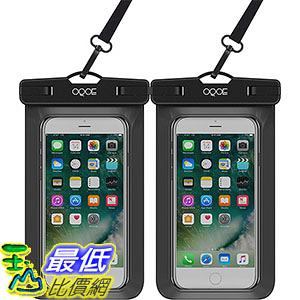 [106美國直購] 防水手機套2入 B01M2BRBS1 OQOE Universal Waterproof Case - Black (2 Pack)