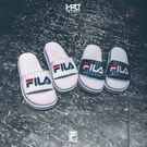 IMPACT FILA Slide Slipper 韓國 斐樂 白藍紅 線條 拖鞋 FS1SLB1032X