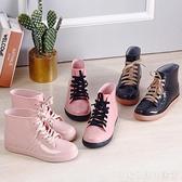 加絨棉雨鞋雨靴防水鞋膠鞋水靴女成人時尚學生短筒防滑保暖冬平底