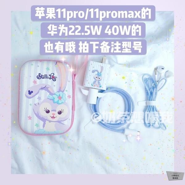 蘋果傳輸線保護套充電器插頭貼紙適用iphone11充電線纏繞繩【小檸檬3C】