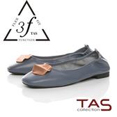 TAS融化飾扣鬆緊帶娃娃鞋-經典藍