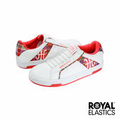 Royal Elastics Icon Alpha 經典運動鞋-白x橘紅學院格紋
