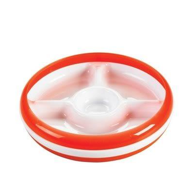 OXO tot 幼兒餵食防滑分格餐盤-橘色