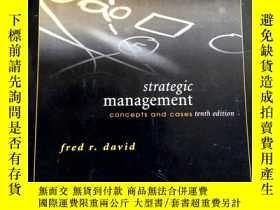二手書博民逛書店strategic罕見management concepts and cases tenth edition 戰略