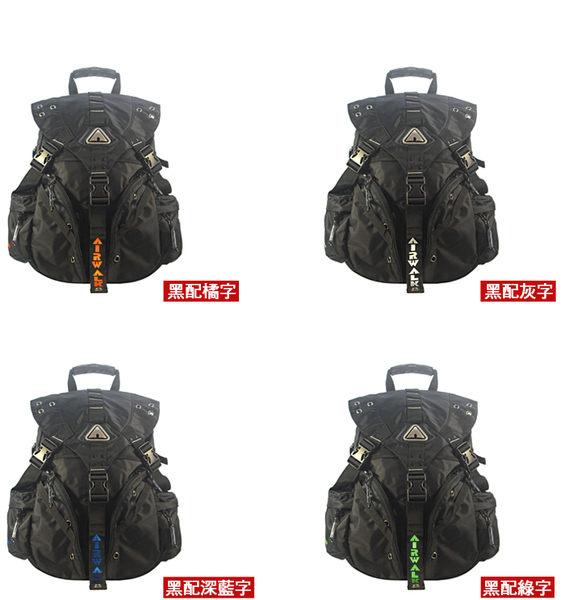 【橘子包包館】AIRWALK 美式潮流三叉釦尼龍後背包 AK-1110371 正式授權經銷商