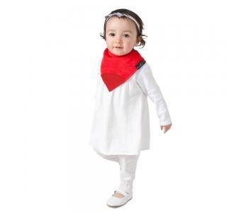 紐西蘭 Mum 2 Mum 機能型神奇三角口水巾咬咬兜-紅 吃飯衣 口水衣 防水衣