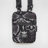 adidas 斜背包 Festival Small Bag 黑 白 蛇紋 小包包 休閒輕便 男女款 【PUMP306】 AB2737