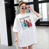 胖mm仙女人2019春夏裝韓版新款大尺碼 女裝洋氣顯瘦減齡白色短袖T恤