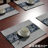 棉麻布藝西餐墊杯墊碗墊盤墊美式新中式餐桌布藝亞麻餐巾布隔熱墊  依夏嚴選