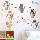 可愛貓咪 貓爪 壁貼 貼紙 客廳 臥室貼 廚房貼 浴室貼 沂軒精品 E0071