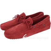 TOD'S FOR FERRARI GOMMINO 麂皮豆豆休閒鞋(紅色) 1620004-54