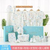 (好康免運)彌月禮物新生兒禮盒套裝棉質嬰兒衣服春秋夏季0-3個月6剛出生滿月寶寶用品xw