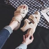夏季新款涼鞋女仙女風Ins百搭運動韓版平底鞋女鞋學生沙灘鞋
