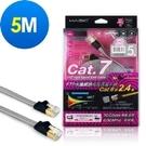 [鼎立資訊] MAGIC Cat.7 FTP光纖網路極高速扁平網路線(專利折不斷接頭)-5M
