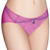 思薇爾-花神祭系列M-XL蕾絲低腰三角內褲(暖桃粉)