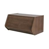 日本 IRIS 木質可掀門堆疊櫃 W60xH30cm 深木色