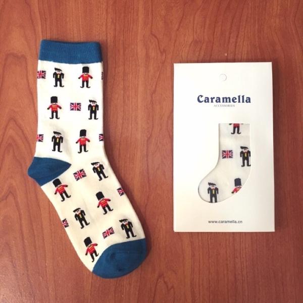 日本Caramella英國小士兵中筒襪【S0213】♥️ 卡通士兵