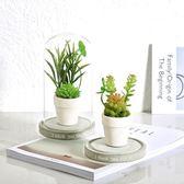 創意仿真多肉綠植擺件植物假盆栽北歐家居客廳室內玻璃罩擺設裝飾 森活雜貨