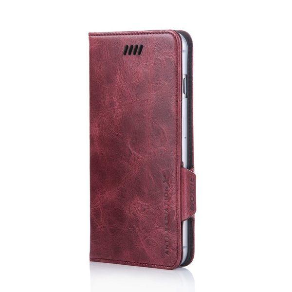 X-SHELL IPHONE 6/6s 防電磁波真皮手機皮套 (仿古蠟皮 酒紅色)