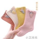 嬰兒襪子冬季加絨加厚保暖松口新生嬰幼兒春秋冬兒童寶寶中長筒襪 小艾新品