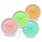《一打就通》FUTABA可口奶昔粉嫩超靜音掛鐘 FEW144 (四色)~靜音設計。粉嫩登場~