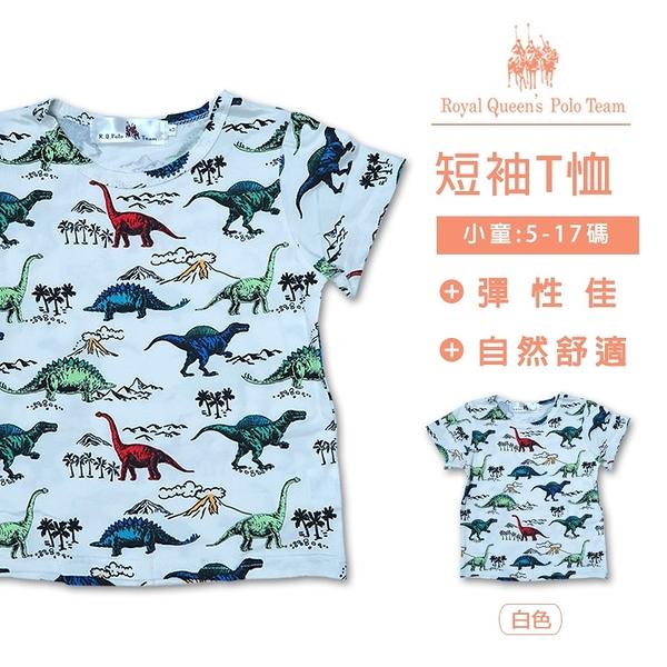 男童棉T恤 恐龍印花短袖上衣 [01116] 小童 春夏 童裝 RQ POLO 5-17碼 現貨