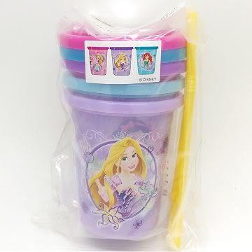 日本製 迪士尼公主系列 吸管學習杯320ml-3入(9543) 超級BABY