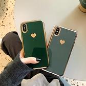 簡約電鍍愛心iphone11pro max蘋果xs手機殼8plus軟殼xr女7p奢華6s