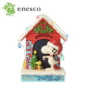【正版授權】Enesco 史努比 聖誕狗屋 塑像 公仔 精品雕塑 聖誕節 Snoopy PEANUTS - 138593