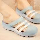 韓版新款厚底防滑洞洞鞋女夏季瑪麗珍沙灘涼鞋平底護士涼拖鞋松糕