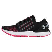 UNDER ARMOUR UA SpeedForm Europa CT 女鞋 慢跑 數位聯網 輕量 透氣 緩震 黑 紅【運動世界】3020975-001