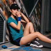 瑜伽服健身房運動套裝女夏季2018新款跑步短袖褲女速干韓版兩件套第七公社