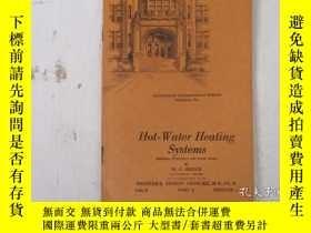 二手書博民逛書店民國:Hot罕見Wster Heating Systems【USA】關於房屋建築結構等Y21905