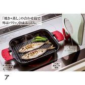 日本《UCHICOOK》新水蒸氣式健康燒烤蒸煮鍋(紅)