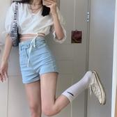 牛仔短褲夏季設計感高腰彈力修身顯瘦牛仔褲2020新款休閒褲韓版女短褲褲子伊蘿 雙11 伊蘿